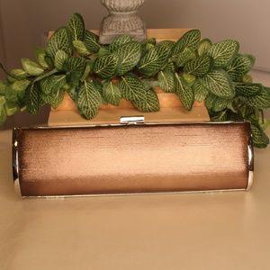 Handbags - Cute Gold Satin Clutch Purse